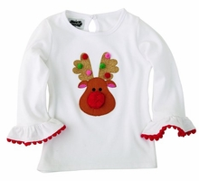 Mud Pie Girls Reindeer Tunic