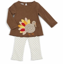 Mud Pie Girls Turkey Tunic and Polka Dot Legging Set SOLD OUT