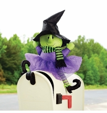 Mud Pie Halloween Decor : Witch Mailbox Cover - Out of Stock