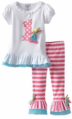 Mud Pie Baby First Birthday Outfit  - I'm 1 Tunic Legging Set