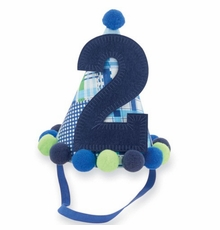 "Mud Pie ""I'm Two"" Birthday Boy Party Hat - sold out"