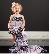 Mud Pie Infant-Baby Girls Polka Dot Ruffle Bubble One Piece