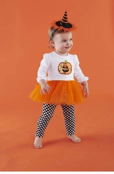 Mud Pie Infant or Toddler Pumpkin Tunic and Legging Set
