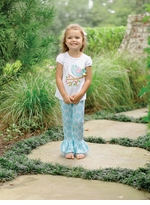 Mud Pie Infant-Toddler Girl's Little Chick Pant Set 5T