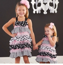 Mud Pie Infant-Toddler Girl's Polka Dot Ruffle Dress - sold out