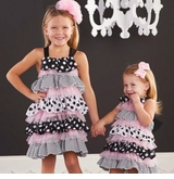 Mud Pie Infant-Toddler Girl's Polka Dot Ruffle Dress