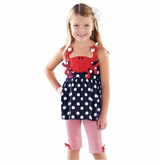 Mud Pie Infant-Toddler's Crab Tunic and Capri Set