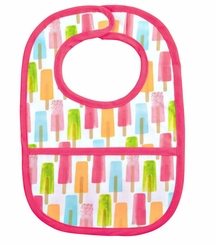 Mud Pie Laminated Popsicle Bib