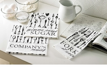Mud Pie Linen Towels : Silverware Flour Sack Towels - set of 3