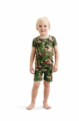 Mud Pie Little Boys Camo Short Pajama Set