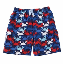 Mud Pie Little Boys Crab Swim Trunks