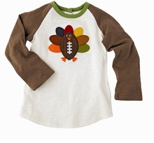 Mud Pie Little Boys' Football Turkey T-Shirt - out of stock