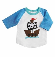Mud Pie Little Boys Pirate Ship T-Shirt