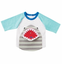 Mud Pie Little Boys Shark Snap-Mouth T-Shirt