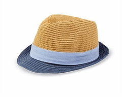 Mud Pie Little Boys Straw Fedora - OUT OF STOCK