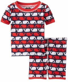 Mud Pie Little Boys Whale Short Pajamas
