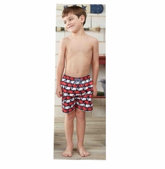 Mud Pie Little Boys Whale swim trunks