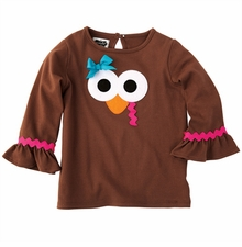 Mud Pie Little Girl Thanksgiving Turkey Tunic - sold out