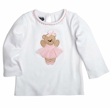 Mud Pie Little Girls Ballet Bear Tunic Shirt
