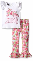 Mud Pie Little Girls' Bunny 2-Piece Set