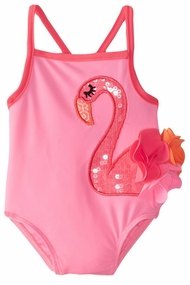 Mud Pie Little Girls Flamingo One Piece Swimsuit - SOLD OUT