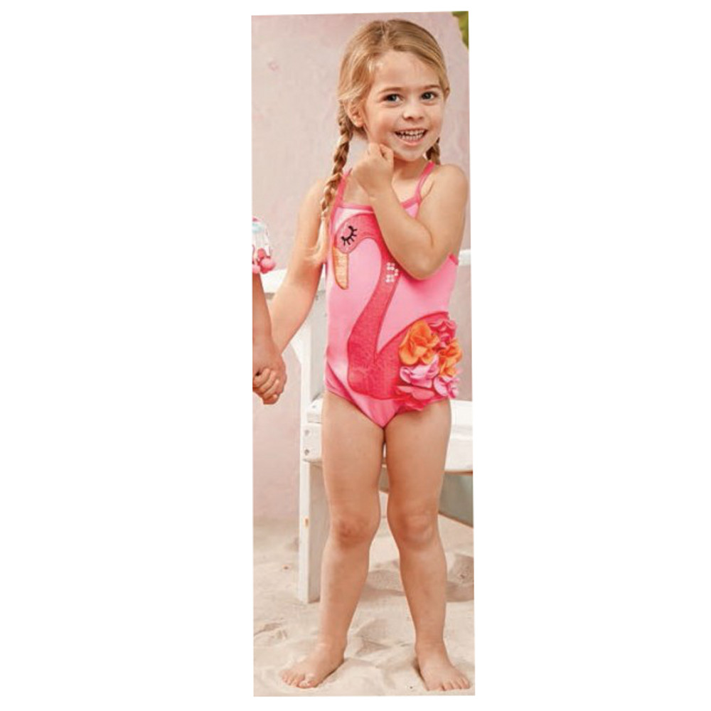 Mud pie little girls flamingo one piece swimsuit sold out