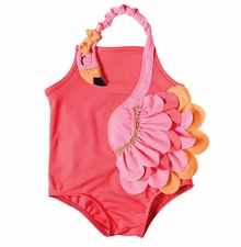 Mud Pie Little Girls Flamingo Swimsuit