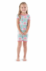 Mud Pie Little Girls Floral Short Pajama
