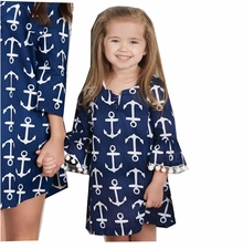 Mud Pie Little Girls Mini Anchor Cover-Up