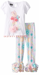 Mud Pie Little Girls Paisley Bunny Tunic Legging Set Toddler - sold out