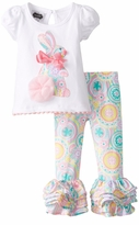 Mud Pie Little Girls Paisley Bunny Tunic Legging Set Toddler