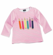 Mud Pie Little Girls Pencil or Crayon Shirt