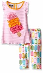 Mud Pie Little Girls Popsicle Tunic & Capri Set