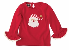 Mud Pie Little Girls' Santa Bow Tunic