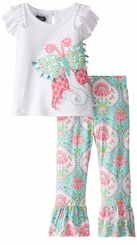 Mud Pie Little Girls Spring Garden Tunic and Legging - sold out