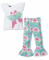 Mud Pie Little Girls Spring Garden Tunic and Legging
