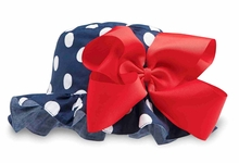 Mud Pie Little Girls Sunhat Navy Dot Bow sold out
