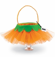 Mud Pie Little Girls Tulle Pumpkin Candy Bag