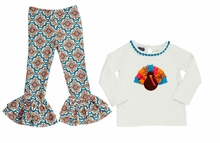 Mud Pie Little Girls Turkey Tunic & Legging Set