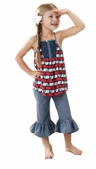 Mud Pie Little Girls Whale Top and Capri Set - SOLD OUT