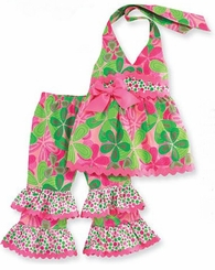 Mud Pie Little Sprout Halter Pant Set