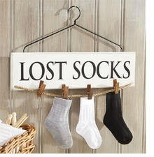 Mud Pie Living : Lost Socks Laundry Hanger