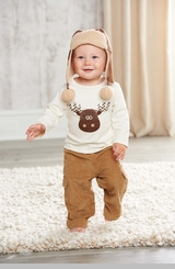 Mud Pie Moose Boy's Corduroy Cargo Pant Set -sold out