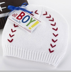 Mud Pie Newborn Boys Baseball Knit Cap