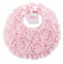 Mud Pie Pink Chiffon Rose Bib SOLD OUT