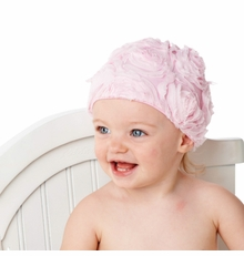 Mud Pie - Pink Chiffon Rosette Baby Hat out of stock