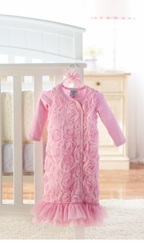 Mud Pie- Pink Chiffon Rosette Gown - SOLD OUT
