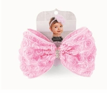 Mud Pie Pink Rosette Bow Stretch Headband - sold out