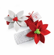 Mud Pie Poinsettia Headband  - Choose Headband Color -sold out