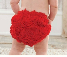 Mud Pie Red Rosette Bloomer